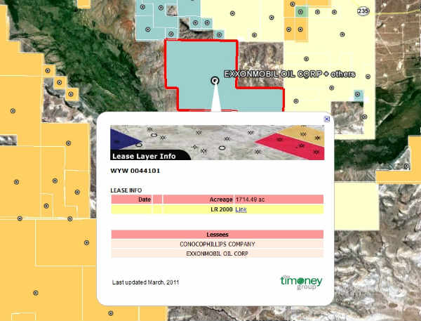 BLM GeoCommunicator Oil & Gas Leases